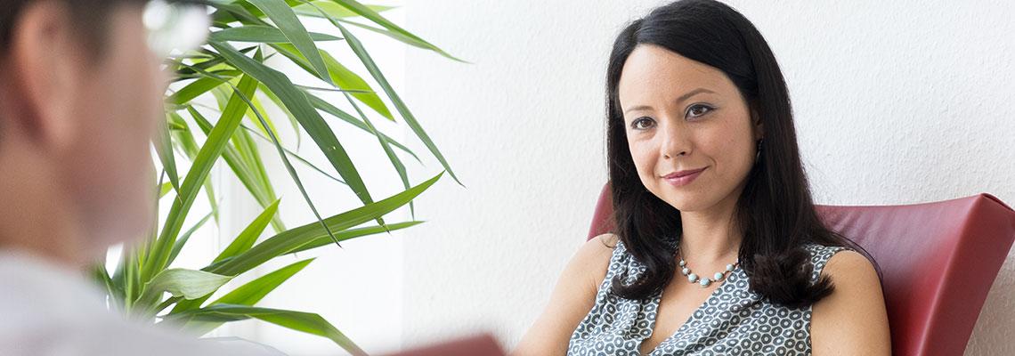 Dipl.-Psych. Sinja Trautmann, Psychologische Psychotherapeutin, in Gesprächstherapie